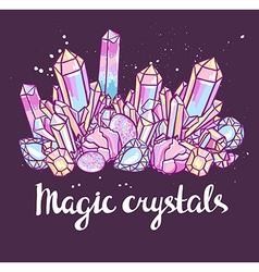 Poster - magic crystals bright vector