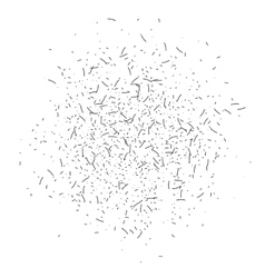 Dust textured cloud vector