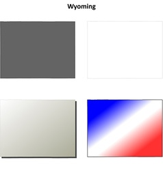 Wyoming outline map set vector