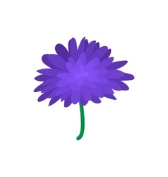 Blue dahlia icon cartoon style vector