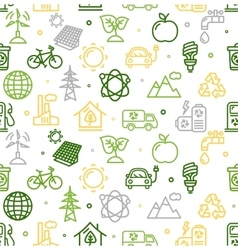 Ecology Background Pattern vector image