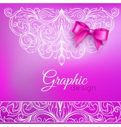 Background bow and ornamental pattern vector