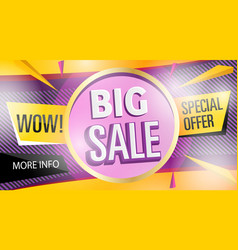 big sale banner template in trendy style vector image