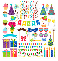 birthday party design elements birthday vector image vector image