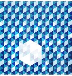 Blue modern geometric design template vector image vector image