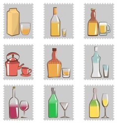 bottle and glass vector image