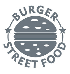 Burger street food logo simple gray style vector