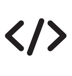 code icon vector image vector image