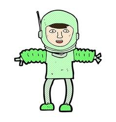 Comic cartoon astronaught vector