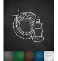 Dishwashing liquid icon vector