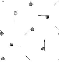 Fishing net pattern seamless black vector