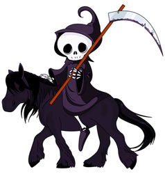 grim reaper cartoon vector image