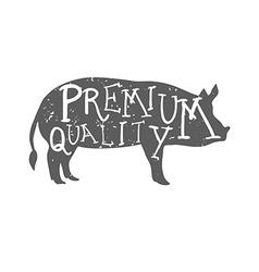 Hand drawn farm animal pig premium quality vector
