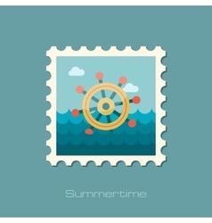 Helm flat stamp vector