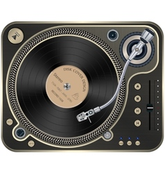 Interface turntables on whete background vector