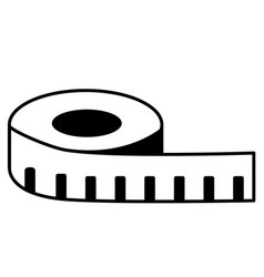 Measuring tape icon on white background measure vector