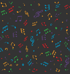 Musical notes seamless pattern vector
