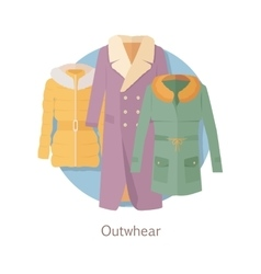 Outerwear Web Banner Winter Collection for Woman vector image vector image