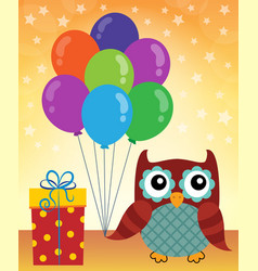 party owl topic image 1 vector image