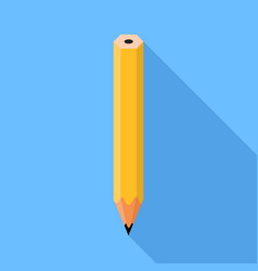 pencil flat design vector image vector image