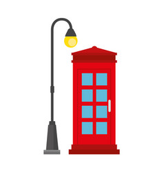 Phone booth with park lantern vector