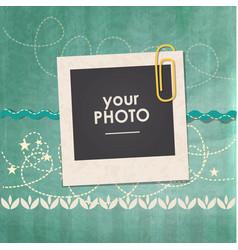 Photo frame birthday vector