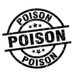 Poison round grunge black stamp vector