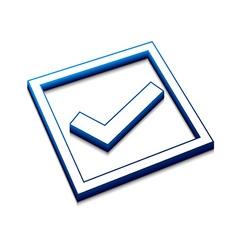 positive checkmark icon vector image