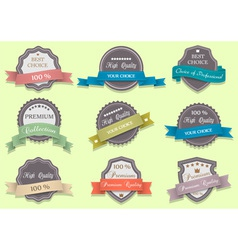 Premium Quality labels set vector image vector image