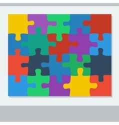 Puzzle of twenty pieces vector image vector image