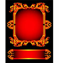 red frameworks vector image