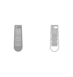 remote control panel it is black icon vector image