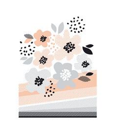 romantic pale color floral vector image vector image