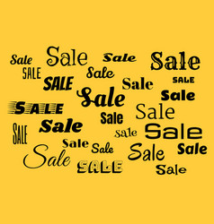 Sales background with black text vector