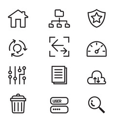 Server icon set vector