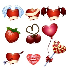 set for Valentines Day vector image vector image
