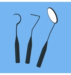 Tools Dentist Set Design Flat Isolated vector image vector image