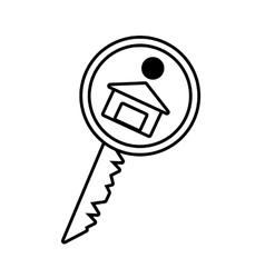 house key real estate buy outline vector image