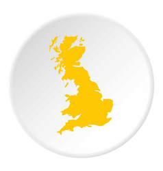 Map of great britain icon circle vector