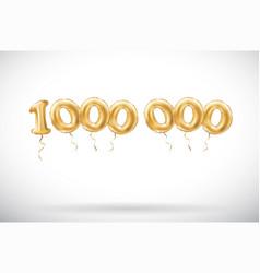 Golden number 1000000 one million metallic vector