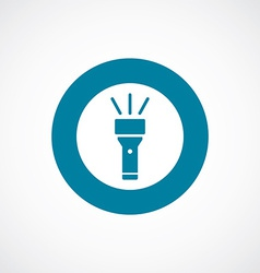 Flashlight icon bold blue circle border vector
