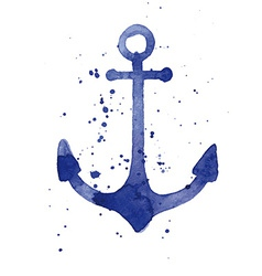 Watercolor of an anchor vector