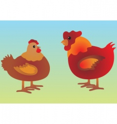 Chicken cartoons vector