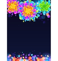 Bright rainbow colors paint splash firework vector