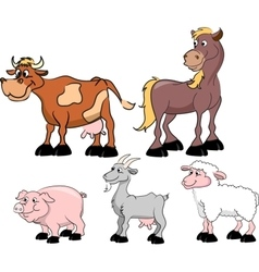 Set of domestic animals vector