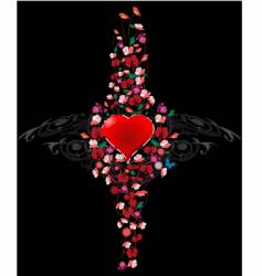 ornament heart vector image
