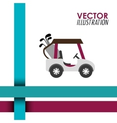 Golf club design vector