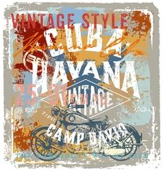 Vintage motor cuba style vector image