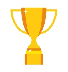 Champion cup icon vector