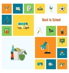 School and education icons vector